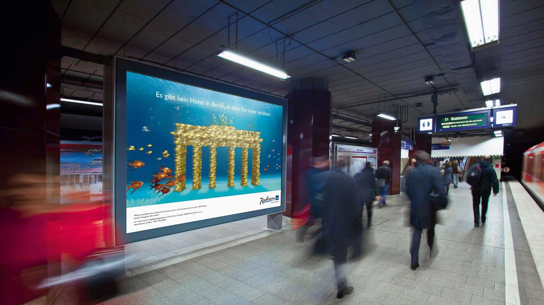 Radisson Berlin Eröffnung Plakat