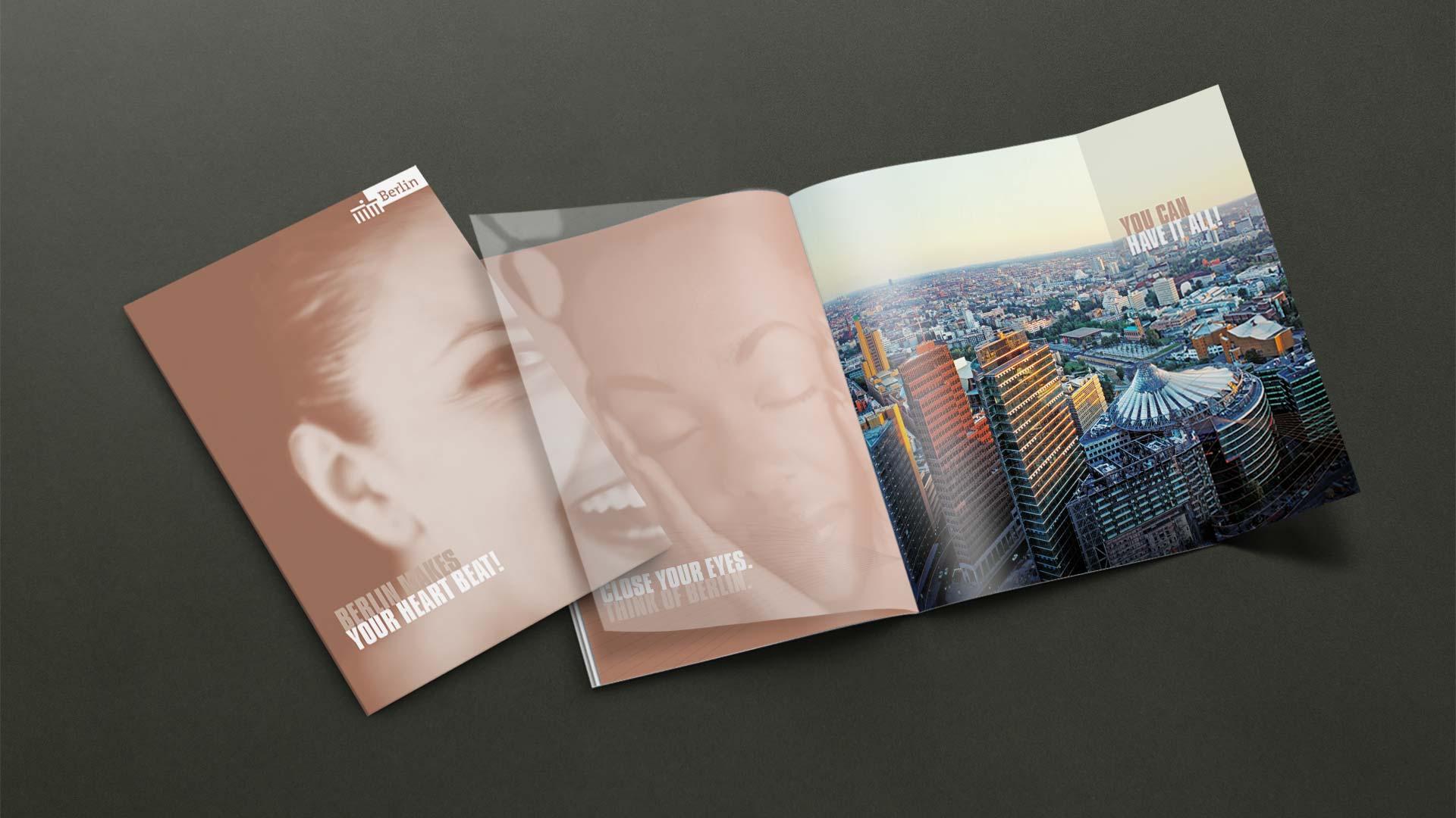 Imagebroschüre für die Berlin Tourismus Marketing GmbH