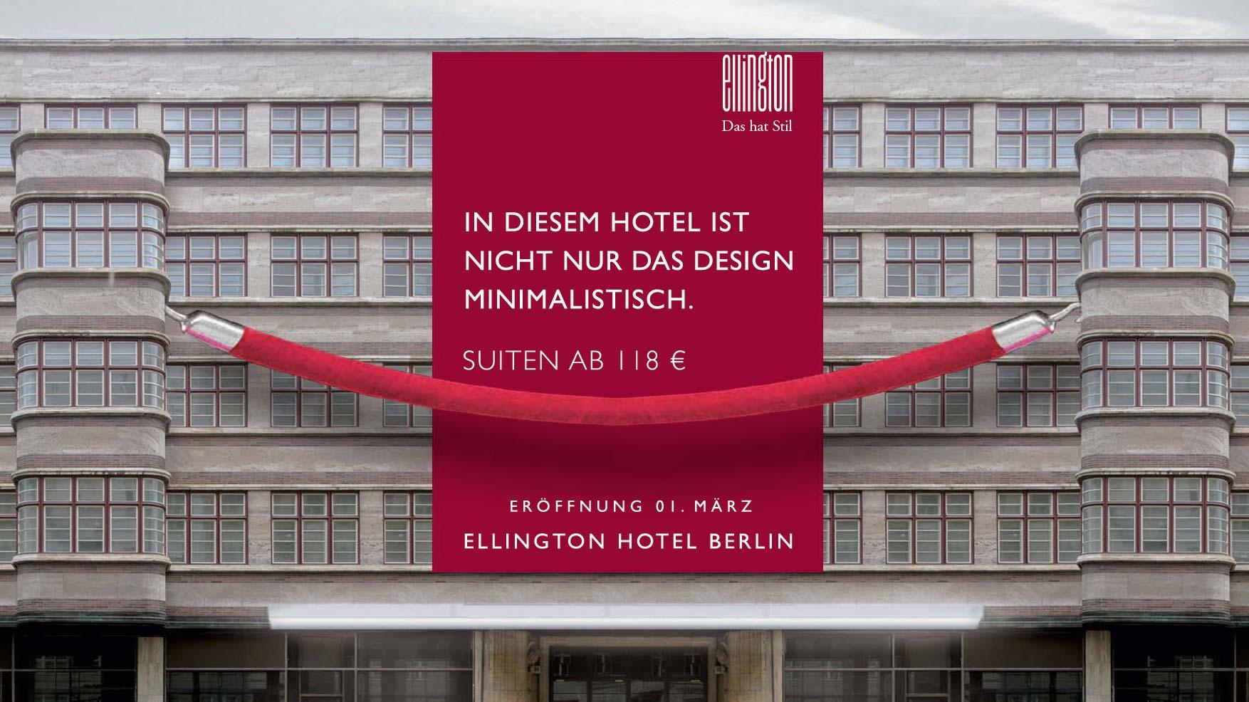 Ellington Berlin Eröffnung Poster
